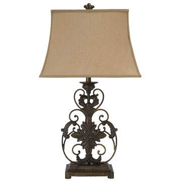 Picture of Sallee Gold Crackle Traditional Metal Table Lamp
