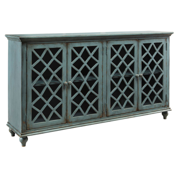 Picture of Accent Console in Antique Teal