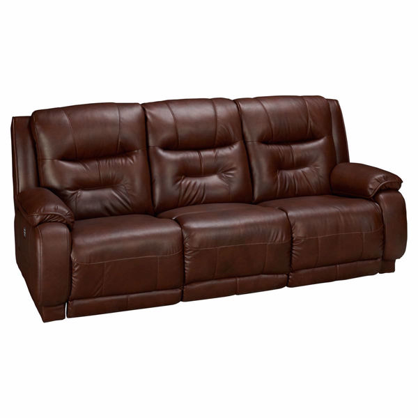 Picture of Crescent Power Reclining Leather Sofa with Power Headrest