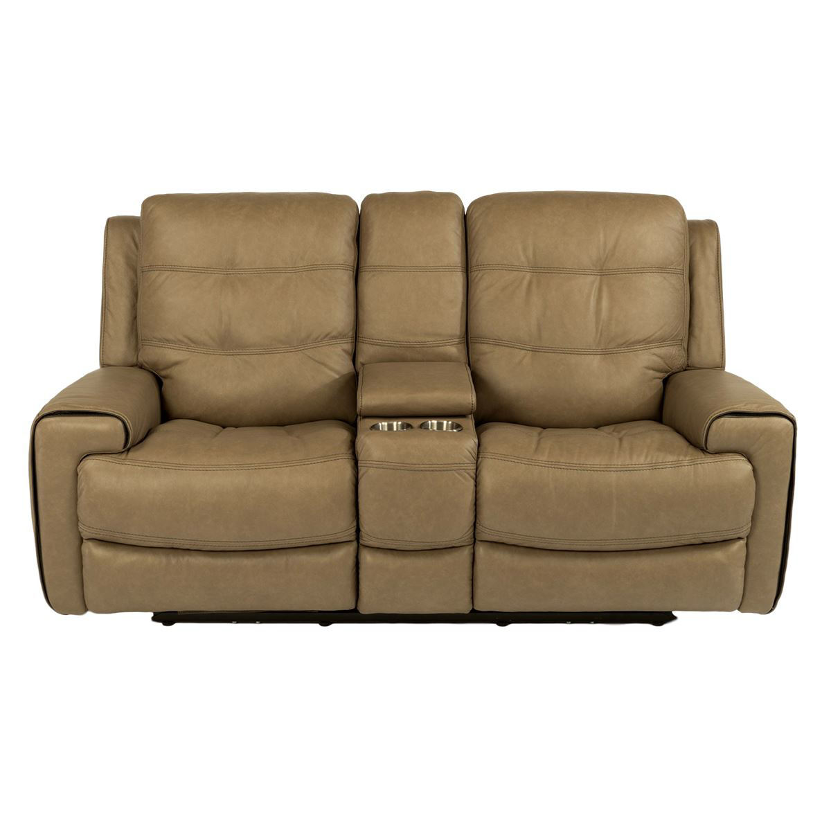 Picture of Wicklow Power Reclining Leather Loveseat with Console and Power Headrest