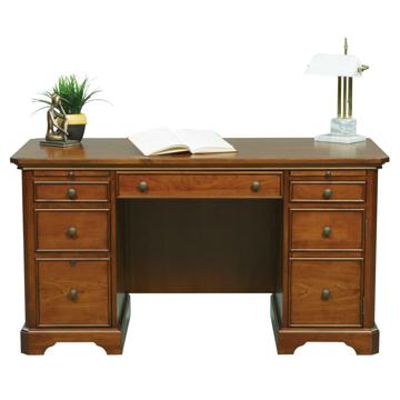 """Picture of Topaz 57"""" Computer Desk in Cinnamon"""