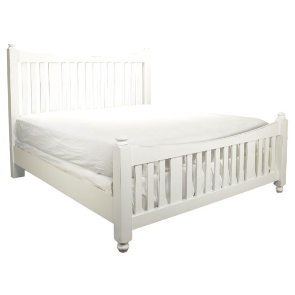 Picture of A&P Maple Road Chalk White Poster King Bed