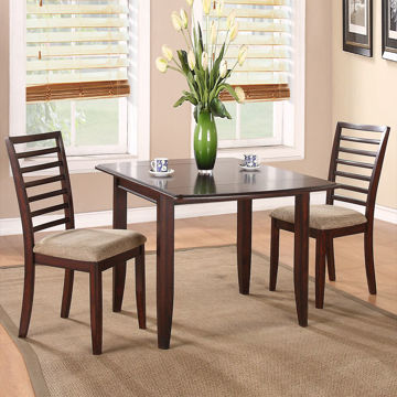 Brown Stone 3 Piece Dining Set