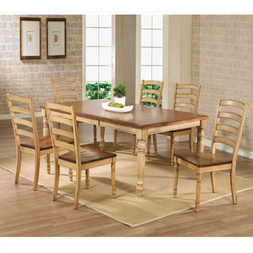 Picture of Quails Run Almond Wheat  7 Piece Dining Room Set