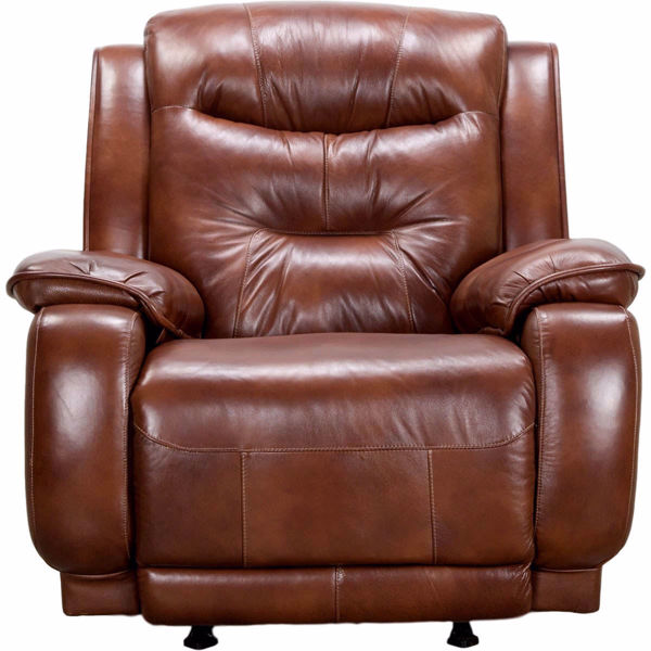 Picture of Crescent Leather Rocker Recliner with Power Headrest