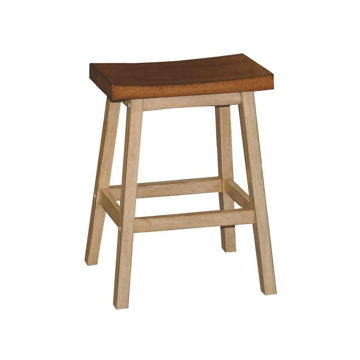 "Picture of 24"" High Saddle Barstool"