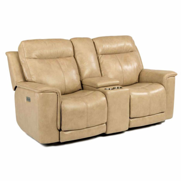 Picture of Miller Power Recliner Loveseat with Console and Power Headrest