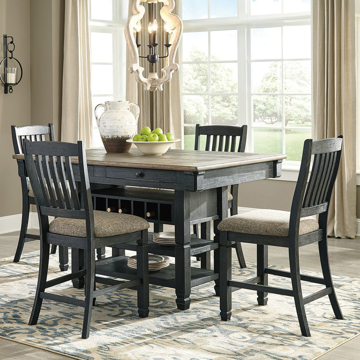 Picture of Antiquity Gray 5 Piece Hightop Dining Set
