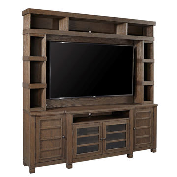 Picture of Triston Console And Hutch in Bark
