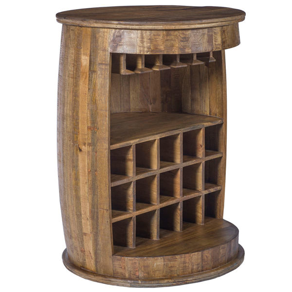 Picture of Wine Barrel Round Bar Cabinet