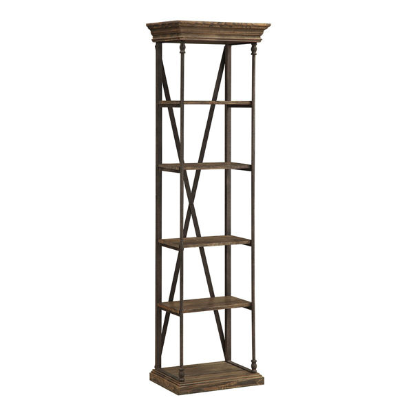 Picture of Steel and Wood 5 Shelf Etagere