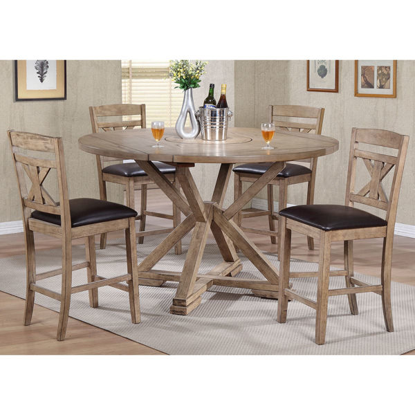 "Picture of Grandview 60"" Tall 5 Piece Dining Set"