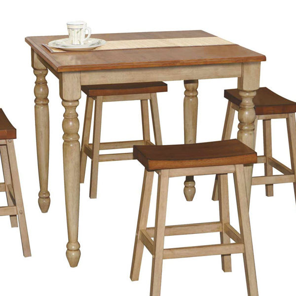 "Picture of Quails Run 36"" Square Tall Table"