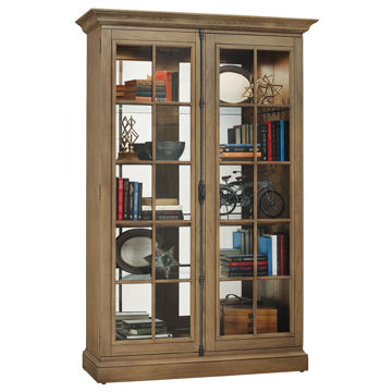 Picture of Clawson Ii Driftwood Curio Cabinet