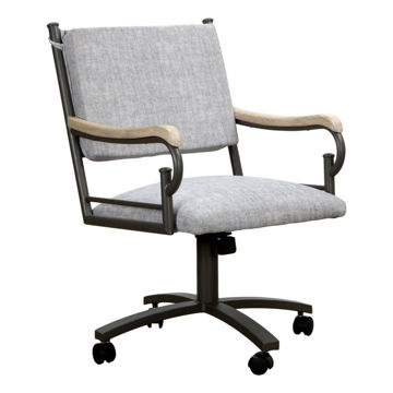 Picture of X-Back Bucket Dining Chair in Gray