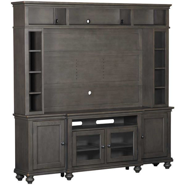 "Picture of Oxford 86"" 2 Piece Entertainment Set in Peppercorn"
