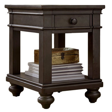 Picture of Oxford Chairside Table in Peppercorn