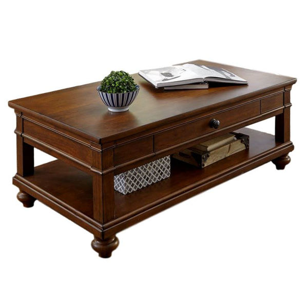 Picture of Oxford Cocktail Table in Whiskey Brown