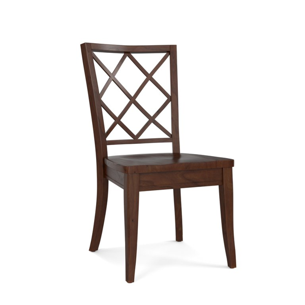 Picture of Lattice Back Custom Dining Side Chair