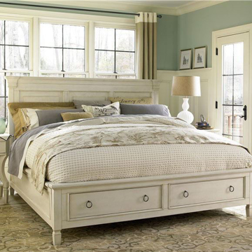 Summer Hill King Panel Storage Bed Universal Furniture 987260B room shot