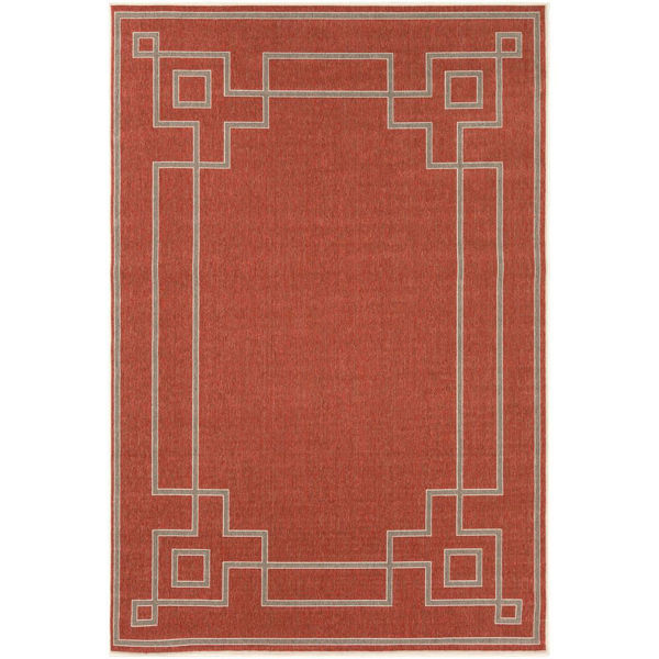 Picture of Alfresco Rust Area Rug