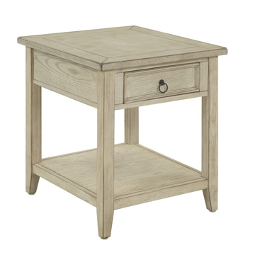 Picture of Burnished Cream One Drawer End Table