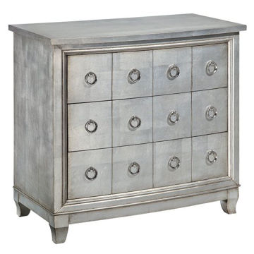 Picture of Burnished Silver 3 Drawer Chest
