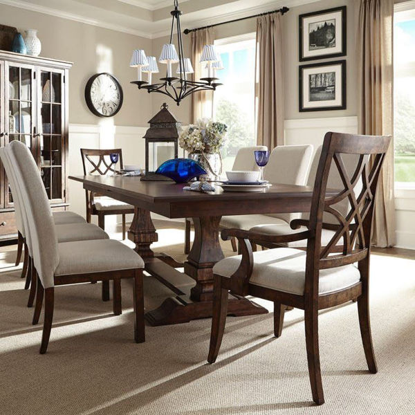 Picture of Trisha Trestle 7 Piece Dining Room Set