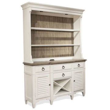 Picture of Myra White 2 Piece Server and Hutch