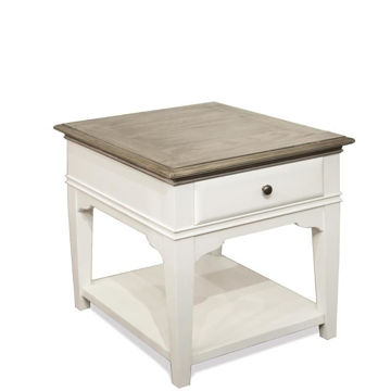 "Picture of Myra White 24"" 1 Drawer End Table"