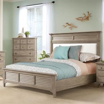 Picture of Myra Upholstered King Bed in Natural