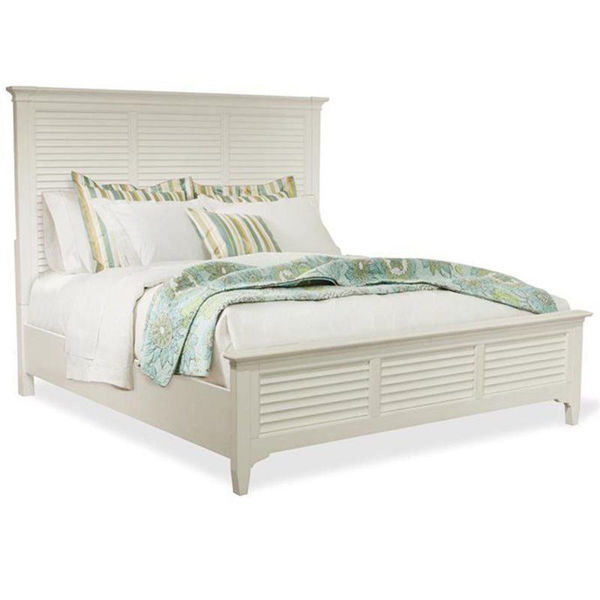 Picture of Myra Louvered King Bed in White