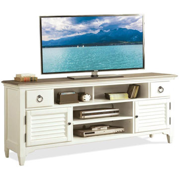 "Picture of Myra White 74"" Louver TV Console"