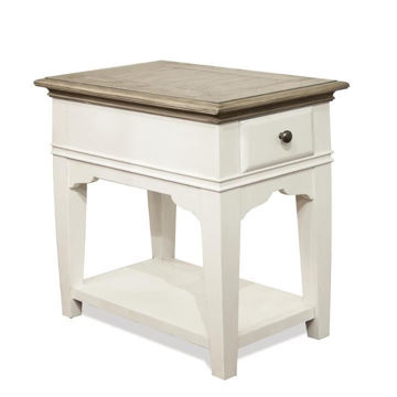 Picture of Myra White Chairside Table