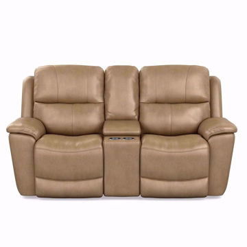 Picture of Cade Leather Power Reclining Console Loveseat
