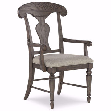 Picture of Brookhaven Upholstered Splat Back Arm Chair