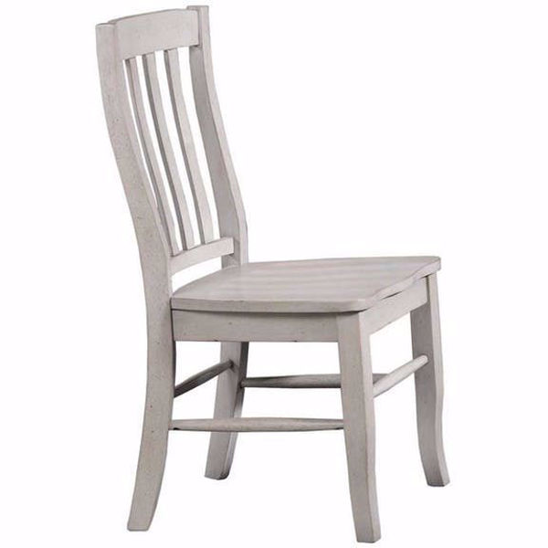 Picture of Carmel Gray Rake Back Side Chair