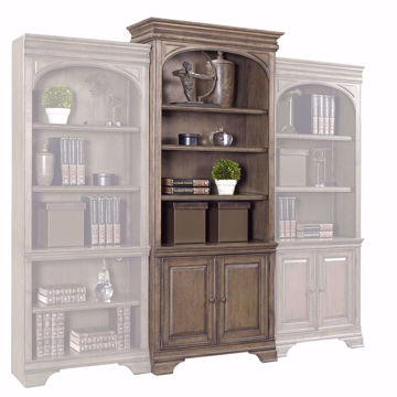 "Picture of Arcadia 84"" Lighted Door Bookcase"