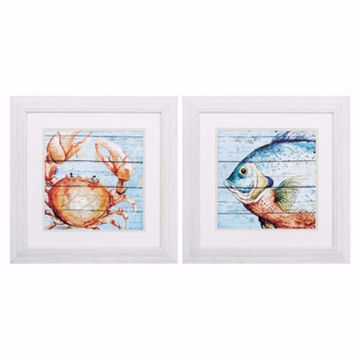 Picture of Crab and Fish Wall Art Set