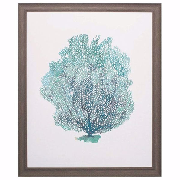 Picture of Aqua Coral On White I Art Print