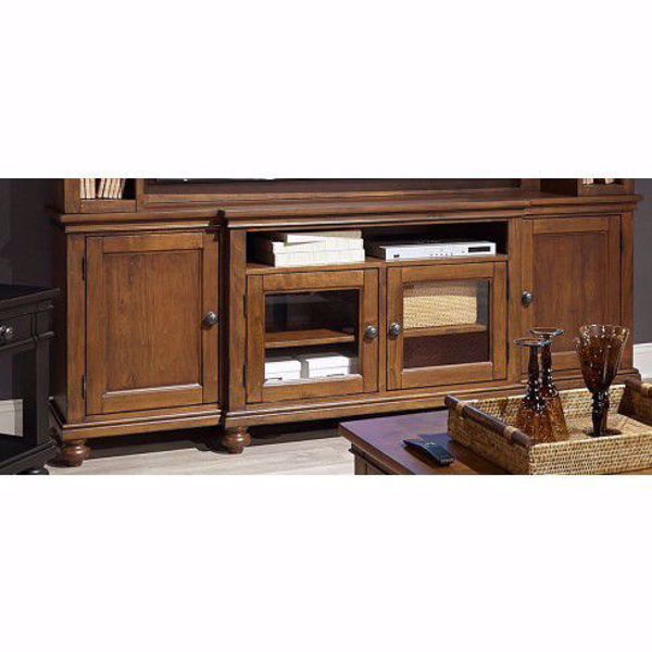 "Picture of Oxford 86"" Console in Whiskey Brown"
