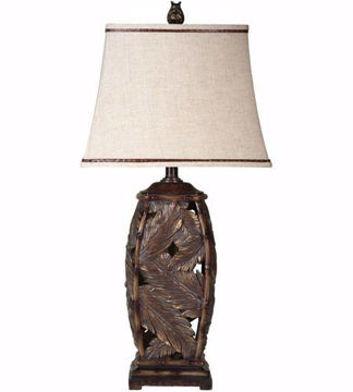 Picture of Bermuda Table Lamp with Fabric Shade in Tropic Bronze