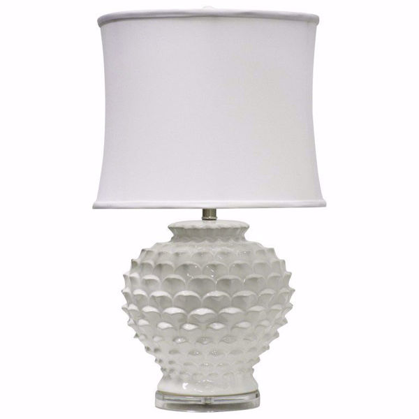 Picture of Pinecone Ceramic White Table Lamp