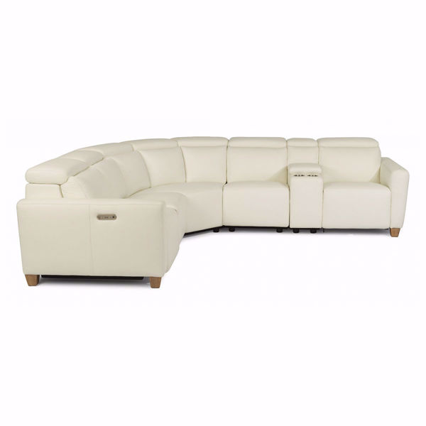 Astra 6 Piece Modular Leather Sectional Sofa