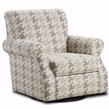 Picture of Bryant Swivel Chair in Houndstooth