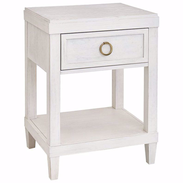 Picture of Ventura Shell White Bedside Table