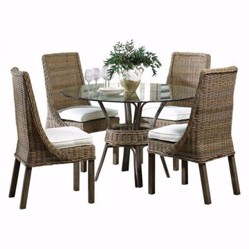 Picture of Exuma 5 Piece Round Glass Dining Set