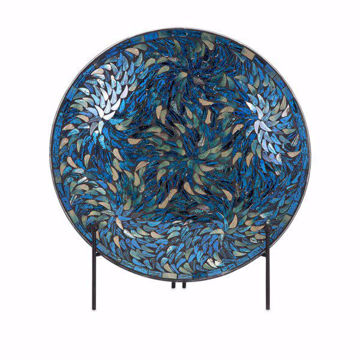 Picture of Peacock Mosaic Charger and Stand
