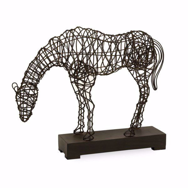Picture of Anatole Woven Horse Statuary