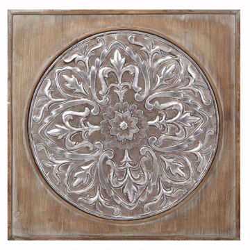 Picture of Carlie Wood Medallion Wall Decor